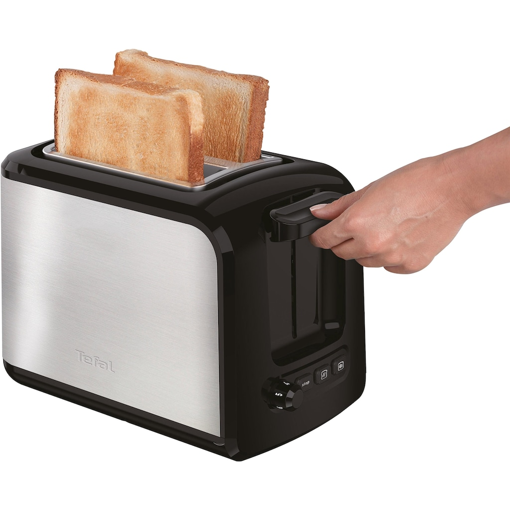 Tefal Toaster »TT411D Express Edelstahl«, 2 kurze Schlitze, für 2 Scheiben, 850 W