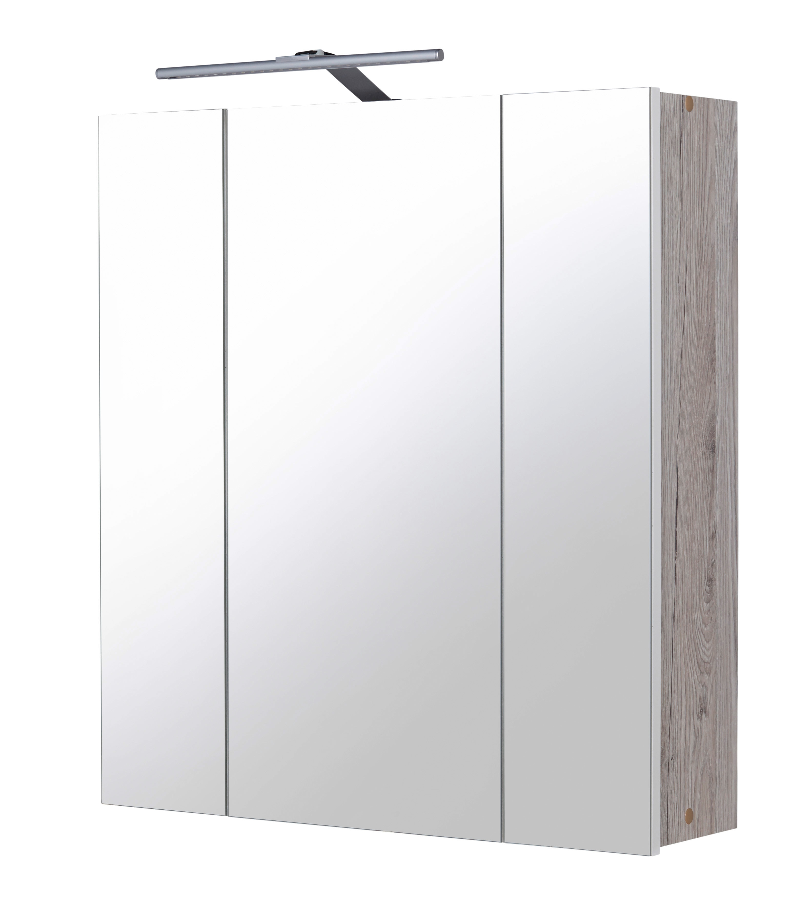 kesper spiegelschrank new york breite 60 cm mit led. Black Bedroom Furniture Sets. Home Design Ideas