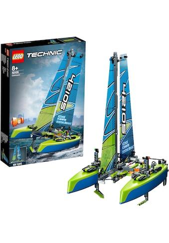 LEGO® Konstruktionsspielsteine »Katamaran (42105), LEGO® Technic«, (404 St.), Made in... kaufen