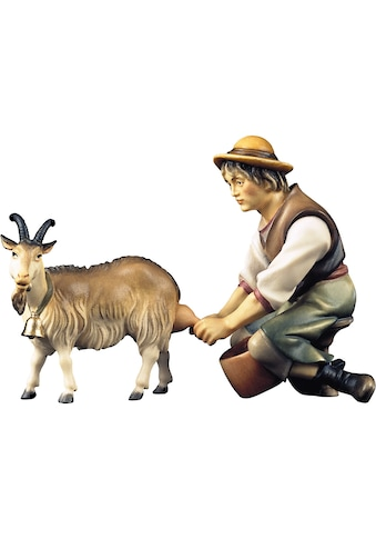ULPE WOODART Krippenfigur »Hirte mit Ziege zum Melken« (Set, 2 Stück) kaufen