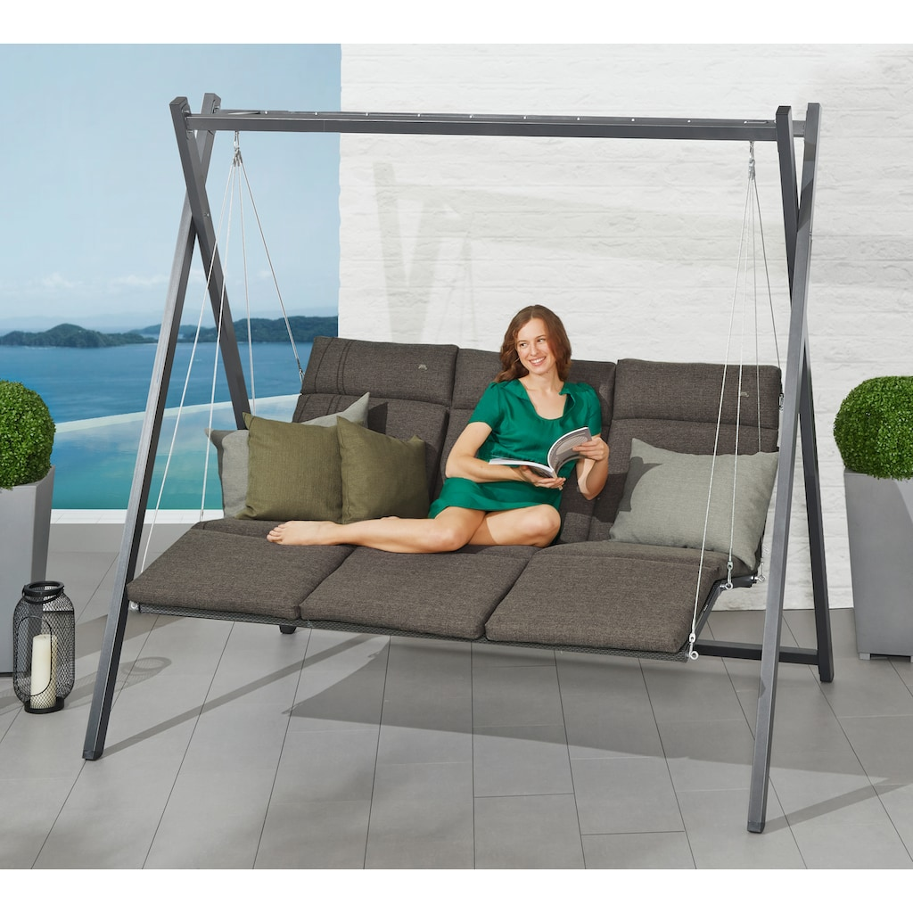 Angerer Freizeitmöbel Hollywoodschaukel »Relax«, inkl. Auflagen und Zierkissen