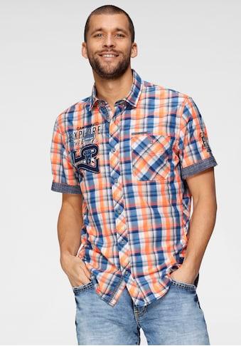 CAMP DAVID Kurzarmhemd, kariert kaufen