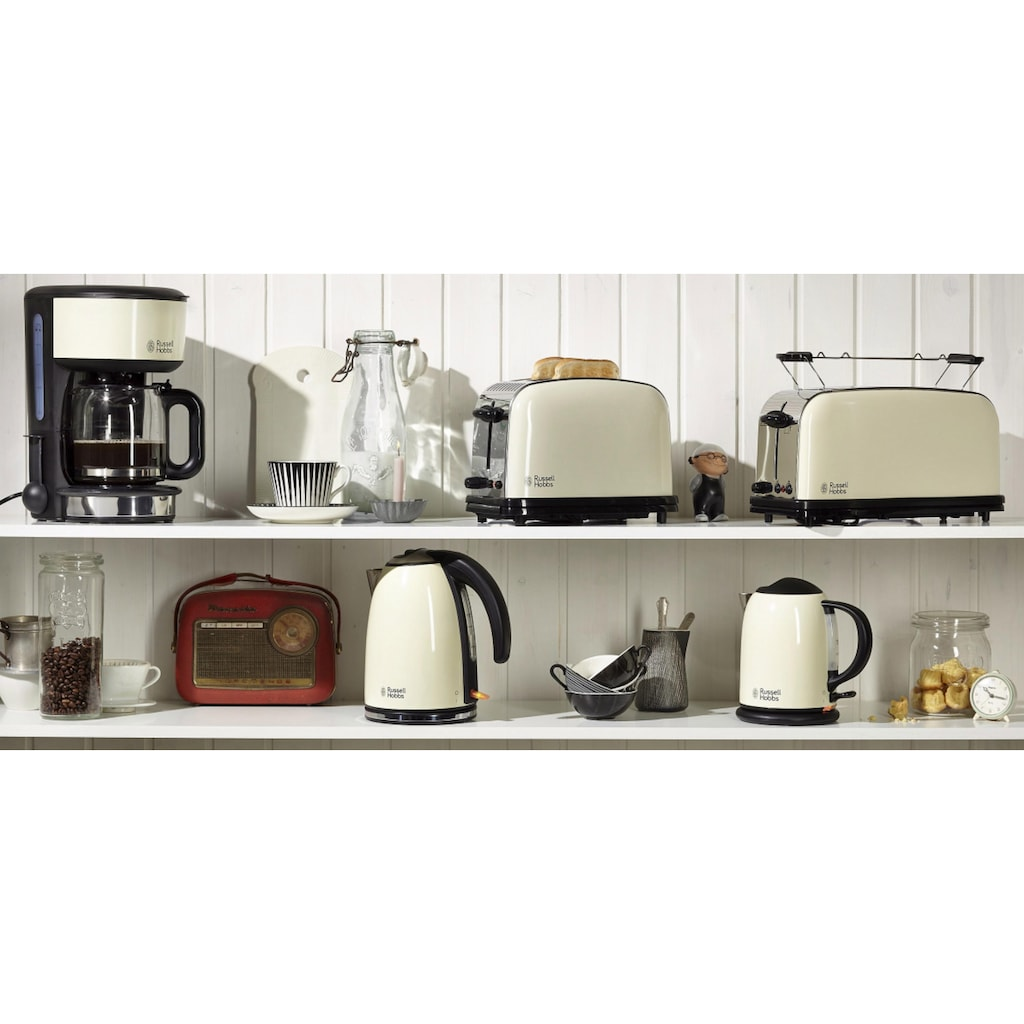 RUSSELL HOBBS Toaster »Colours Plus+ Classic Cream 23334-56«, 2 kurze Schlitze, 1670 W