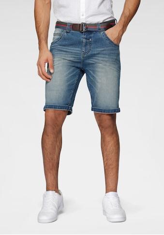 LERROS Jeansshorts, (mit Gürtel), in authentischer Waschung kaufen