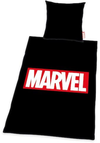 MARVEL Bettwäsche »Marvel«, mit Logodruck kaufen