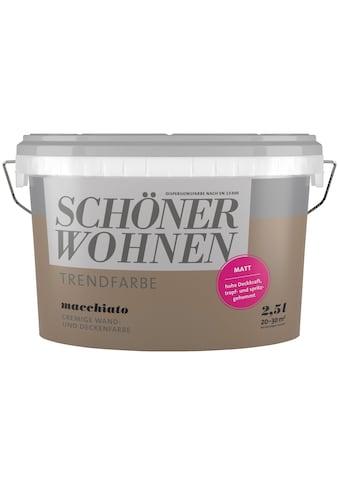 SCHÖNER WOHNEN-Kollektion Wand- und Deckenfarbe »Trendfarbe Macchiato, matt« kaufen
