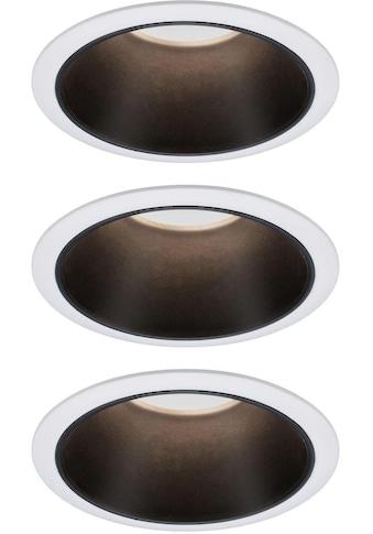 Paulmann LED Einbauleuchte »Set Cole 3x6,5W Weiß/Schwarz matt 3-Stufen-dimmbar 2700K... kaufen