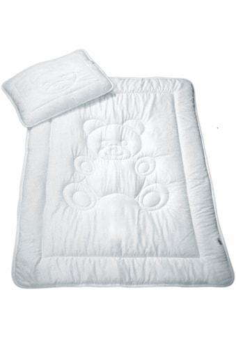 MESANA Kinderbettdecke + Kopfkissen »Bär«, (Spar-Set) kaufen
