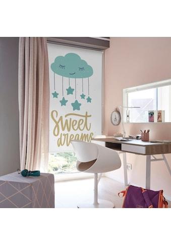 Lüttenhütt Seitenzugrollo »Sweet Dreams«, verdunkelnd, ohne Bohren, Kinderrollo im Fixmaß kaufen