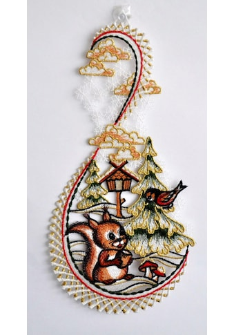 Stickereien Plauen Fensterbild »Hase im Wald« kaufen