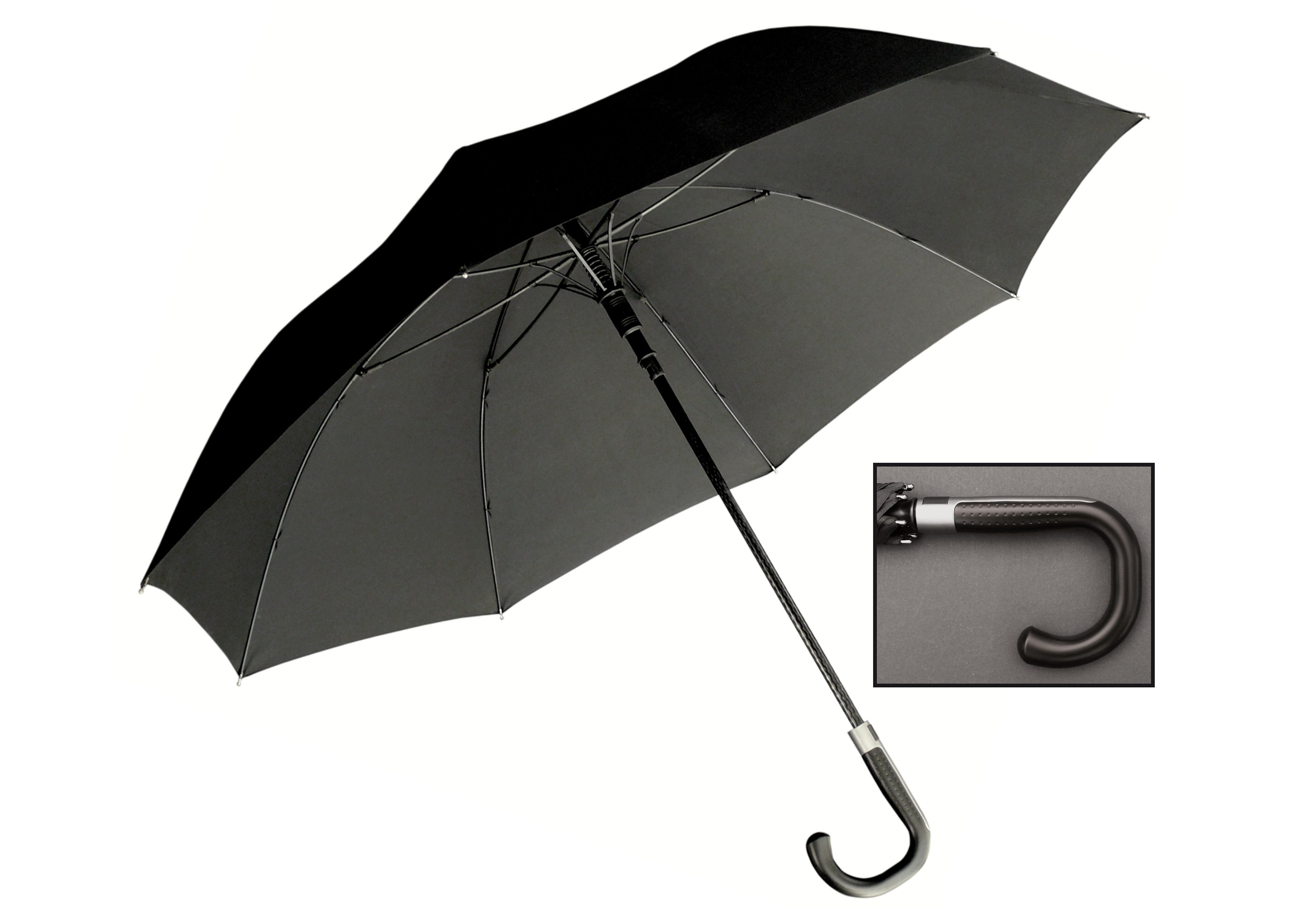 Euroschirm, Stockregenschirm ´´Partnerschirm´´ | Accessoires > Regenschirme > Sonstige Regenschirme | Schwarz | Glasfaser | EUROSCHIRM®