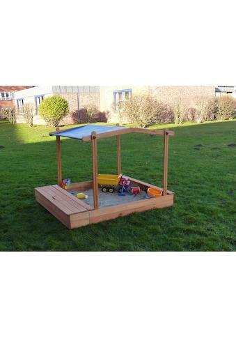 promadino Sandkasten »MULTI«, BxLxH: 140x172x131 cm, mit Sitzbox und Sonnendach kaufen