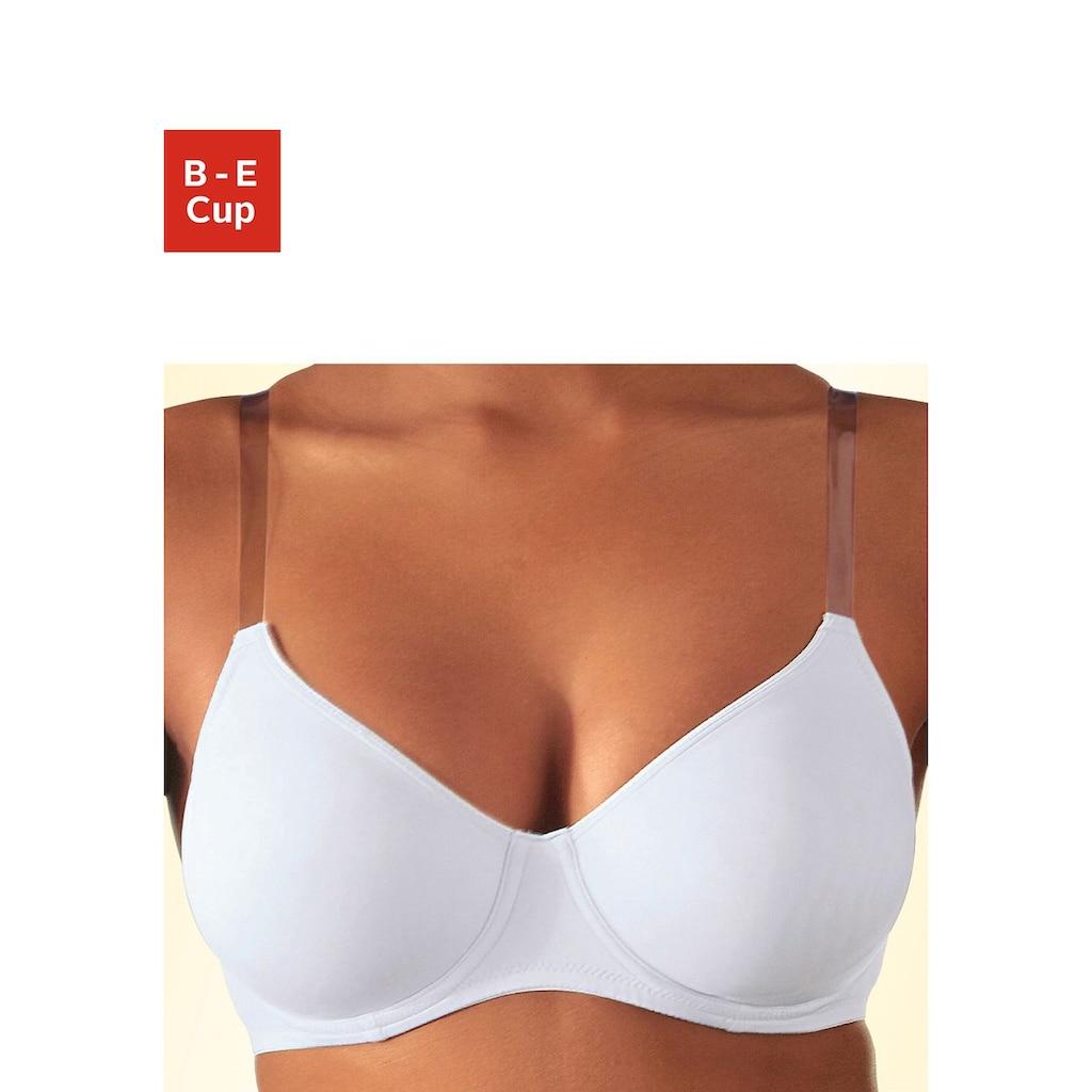 Nuance T-Shirt-BH, mit Bügel, ohne Schale und mit transparenten Trägern