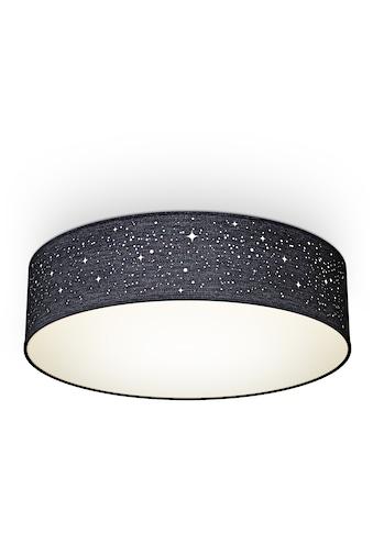 B.K.Licht Deckenleuchte, E27, 1 St., Textil-Sternenhimmel, Schwarz, Ø38cm, 2-flammig... kaufen