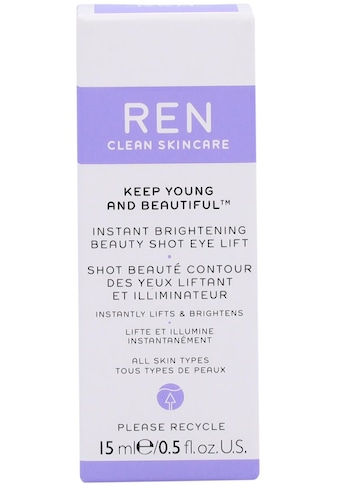 Ren Anti-Aging-Augencreme »Keep Young And Beautiful Instant Brithening Beauty Shot Eye... kaufen