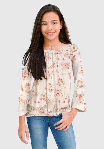 KIDSWORLD Carmenshirt, mit großem elastischen Ausschnitt kaufen