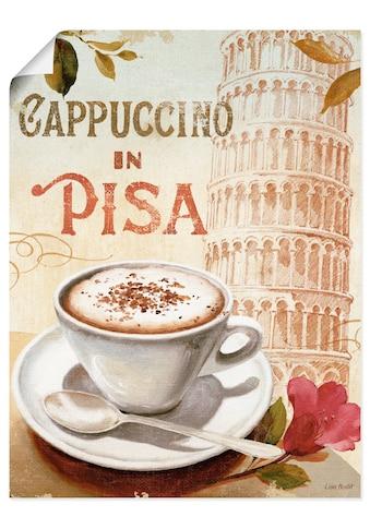 Artland Wandbild »Kaffee in Europa IV«, Getränke, (1 St.), in vielen Größen &... kaufen