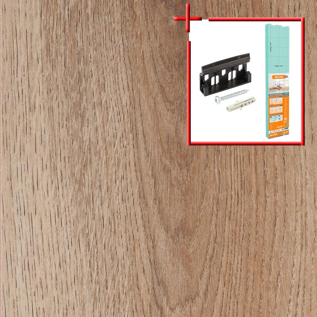 Bodenmeister Laminat »Dielenoptik Eiche natur rustikal«, Leiste dekorgleich, Stärke: 7mm, ohne Fuge