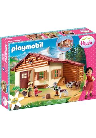 """Playmobil® Konstruktions - Spielset """"Heidi und Großvater auf der Almhütte (70253), Heidi"""", Kunststoff kaufen"""