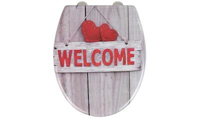 WENKO WC-Sitz »Welcome«, Duroplast, mit Absenkautomatik kaufen