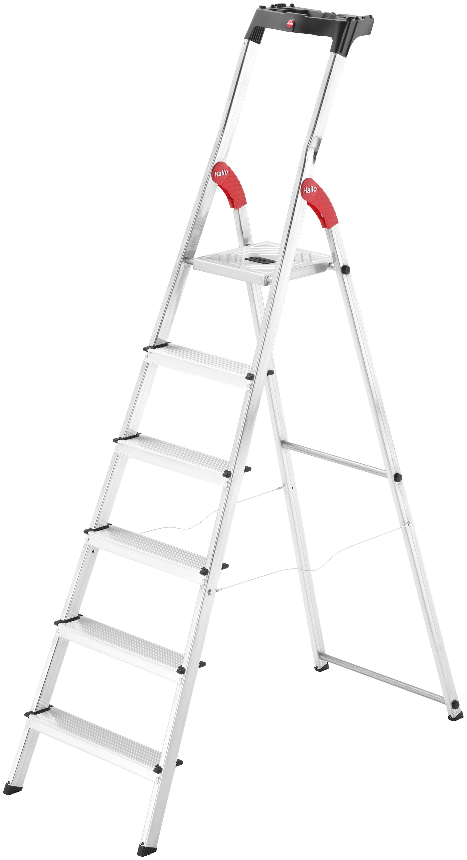 Hailo Sicherheitstrittleiter »L60 EasyClix« | Baumarkt > Leitern und Treppen > Trittleiter | Silberfarben | HAILO