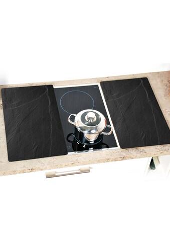 """KESPER for kitchen & home Schneide -  und Abdeckplatte """"Schiefer - Optik"""", ESG - Sicherheitsglas, (Set, 2 - tlg.) kaufen"""