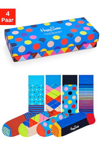 Happy Socks Socken, (Box, 4 Paar), mit klassischen Mustern in Geschenkbox kaufen