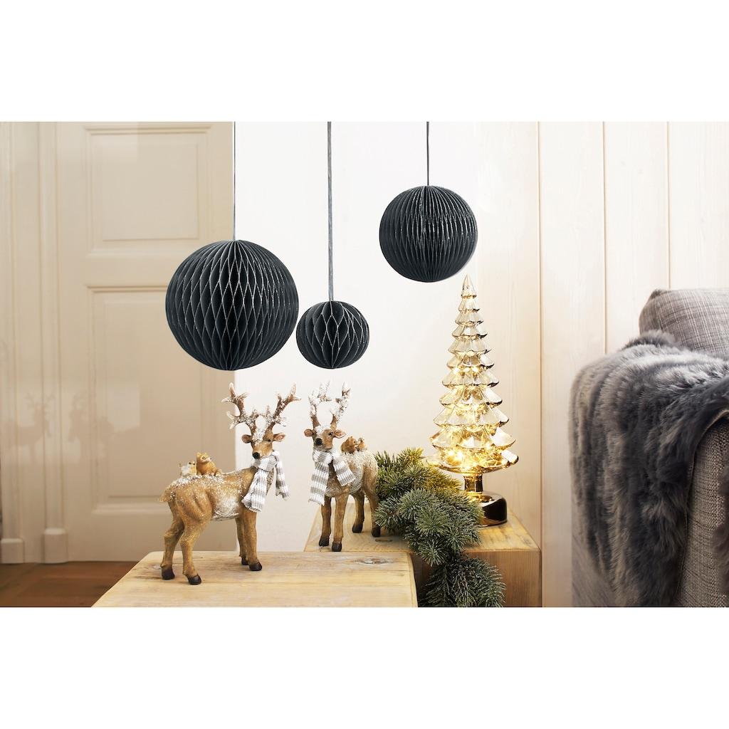 LED Baum »Tanne«, Warmweiß, aus Glas, mit 12 LEDs, Höhe ca. 33 cm