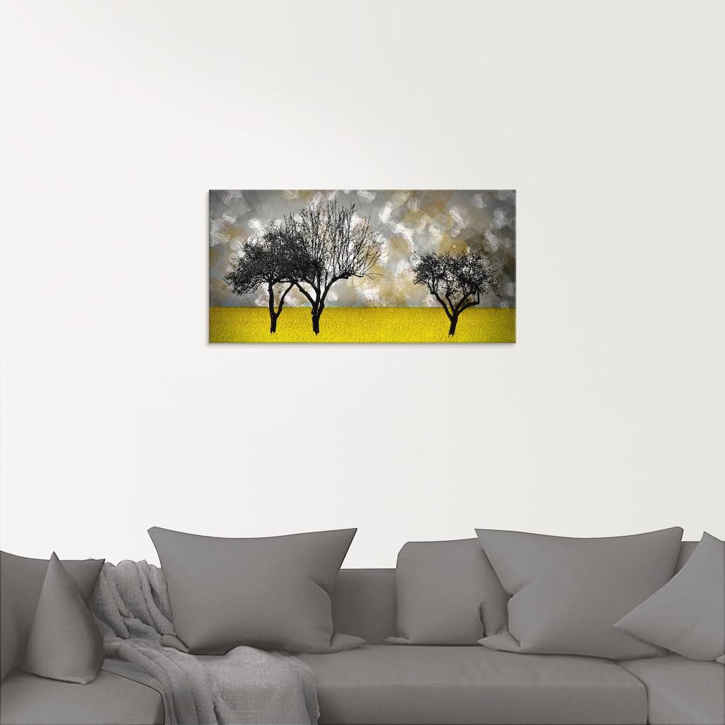 Artland Glasbild »Landschaft«, Bäume, (1 St.)