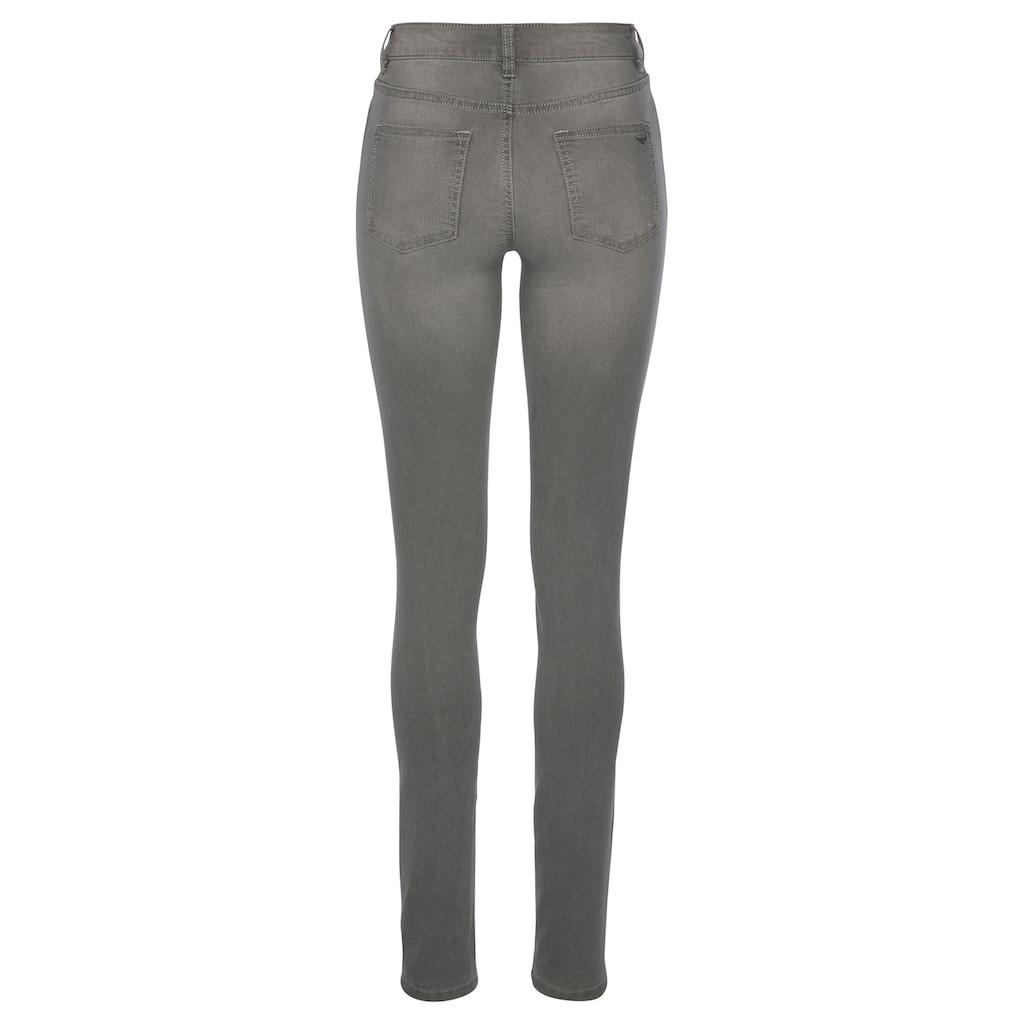 Arizona Skinny-fit-Jeans »Seitennaht mit kontrastfarbenem Streifen«, Mid Waist
