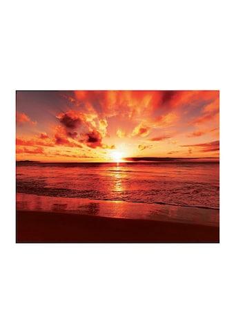 Home affaire Glasbild »Beautiful tropical sunset on the beach« kaufen