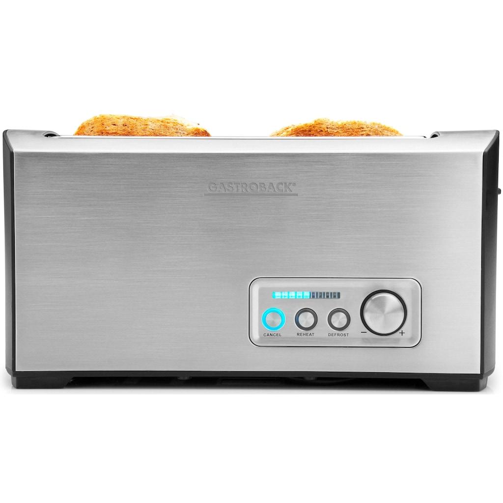 Gastroback Toaster »Pro 4S 42398«, 1 langer Schlitz, für 4 Scheiben, 1500 W