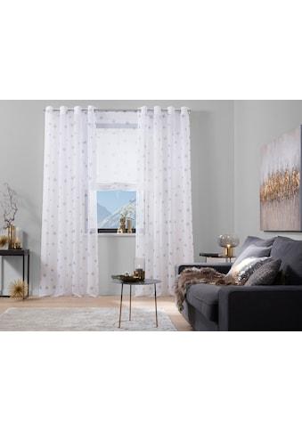 my home Raffrollo »Stern«, mit Stangendurchzug kaufen
