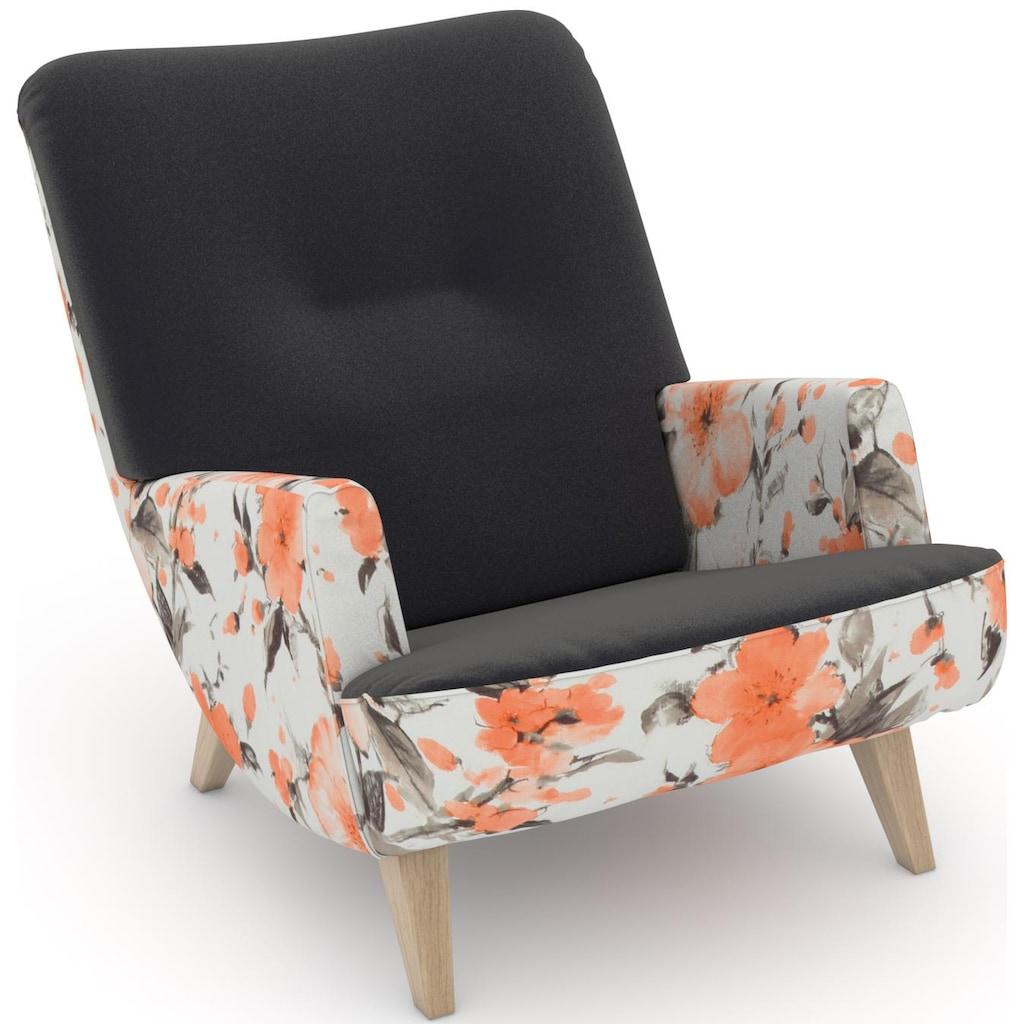 Max Winzer® Loungesessel »build-a-chair Borano«, im Retrolook, zum Selbstgestalten