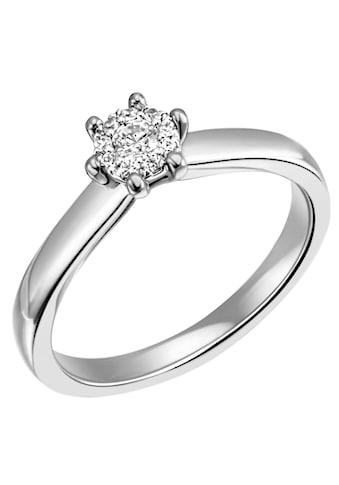 Firetti Diamantring »Verlobung, ca. 2,70 mm breit, Glanz, massiv«, mit Brillanten kaufen