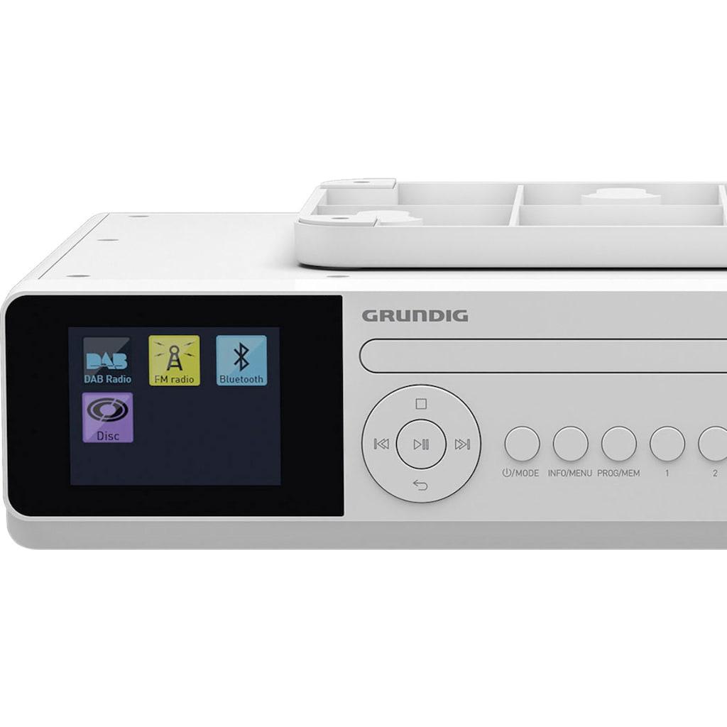 Grundig Küchen-Radio »DKR 2000 BT DAB+ CD«, (Bluetooth Digitalradio (DAB+)-FM-Tuner-FM-Tuner mit RDS 6 W)