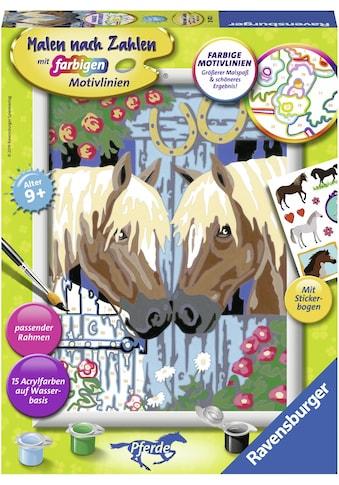Ravensburger Malen nach Zahlen »Treue Pferde«, Made in Europe, FSC® - schützt Wald -... kaufen