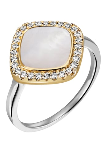 Firetti Fingerring »quadratische Form, bicolor« kaufen