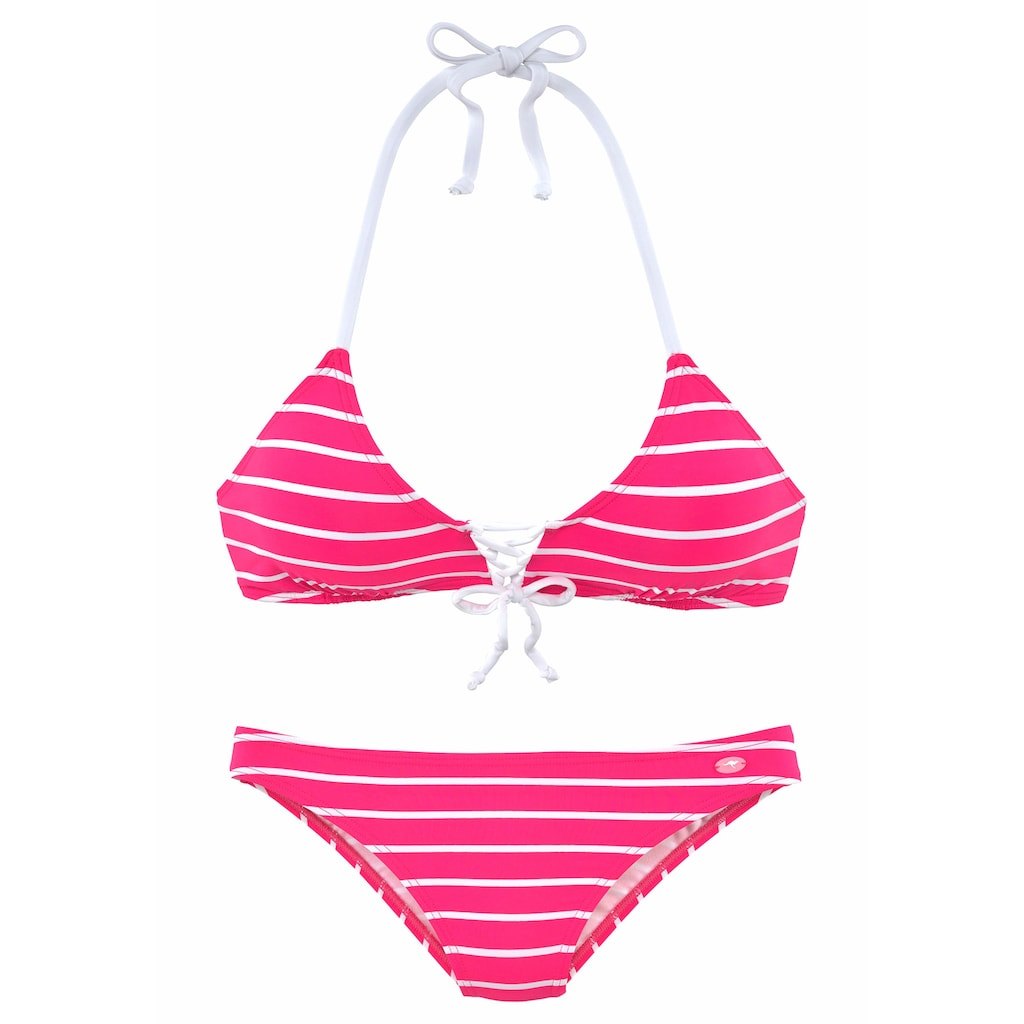 KangaROOS Triangel-Bikini, in Streifenoptik