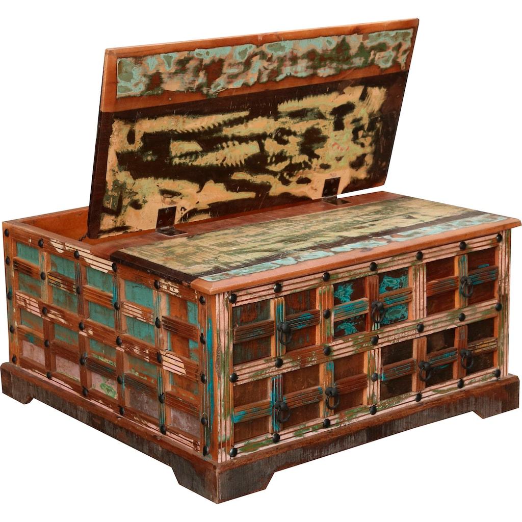 Ploß Couchtisch »Jaipur«, aus recyceltem Altholz, Shabby Chic, Vintage