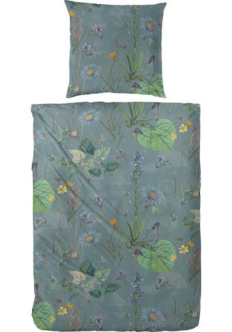 Primera Bettwäsche »Mako-Satin Bettwäsche Botanicals«, Mit satten Grüntönen kaufen