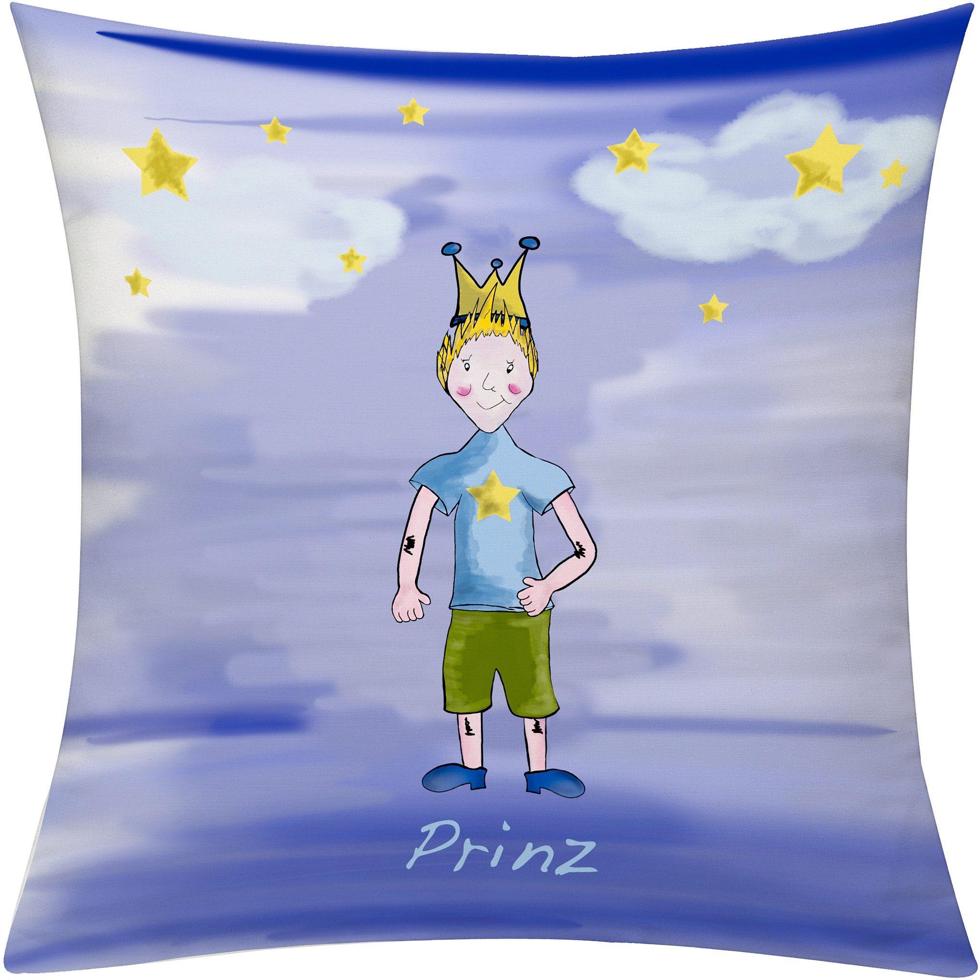 Kissenhülle, »Prinz Nacht«, emotion textiles   Heimtextilien > Bettwäsche und Laken > Kopfkissenbezüge   Blau   Polyester   EMOTIONTEXTILES