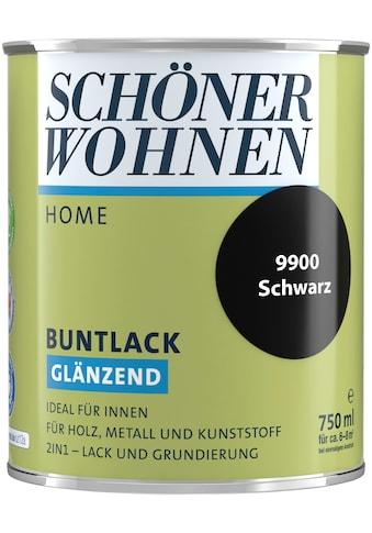 SCHÖNER WOHNEN-Kollektion Lack »Home Buntlack«, glänzend, 750 ml, schwarz kaufen
