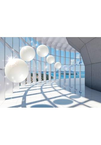 CONSALNET Vliestapete »3D Corridor mit Fenster«, verschiedene Motivgrößen, für das Büro oder Wohnzimmer kaufen