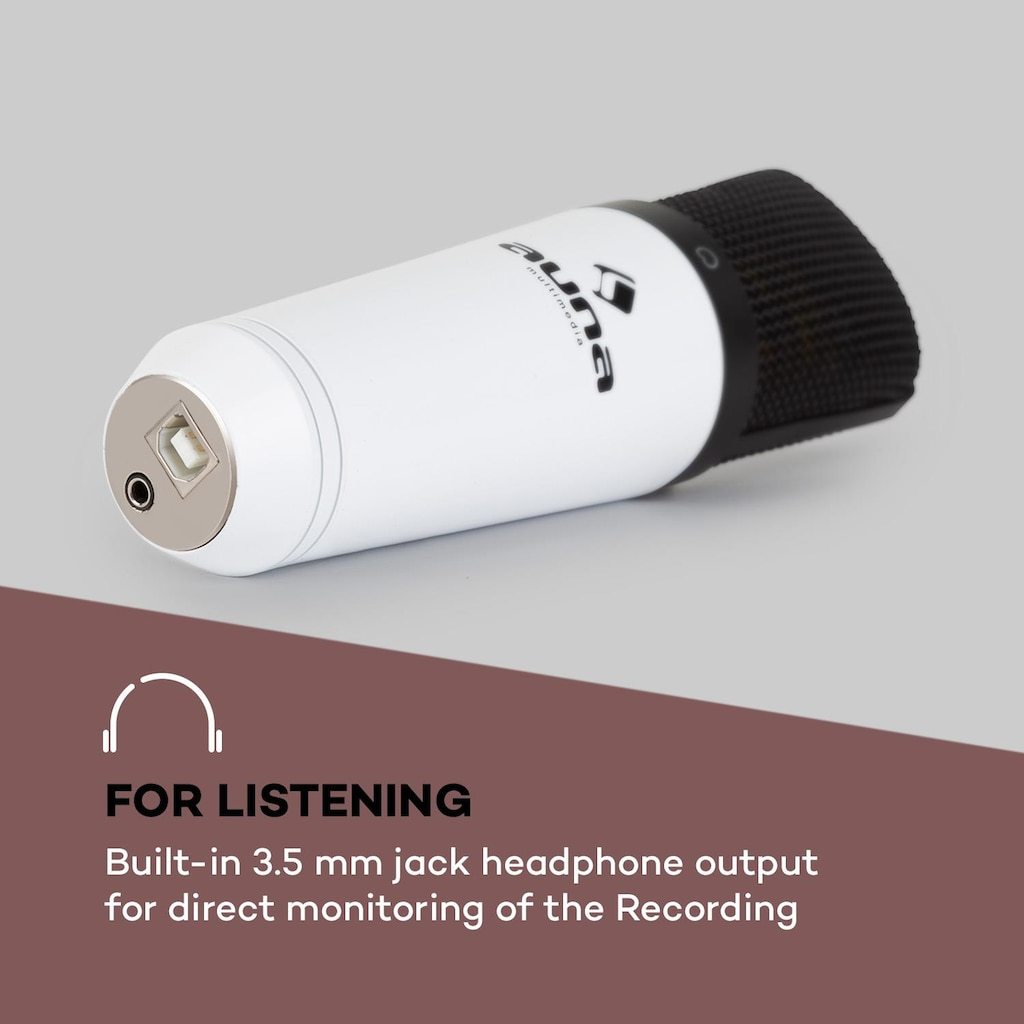 Auna USB Kondensatormikrofon weiß