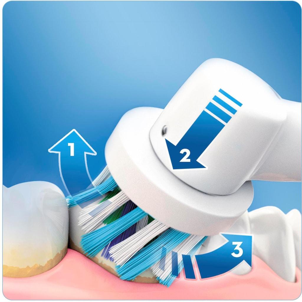 Oral B Elektrische Zahnbürste »Vitality 100 CrossAction Weiß«, 1 St. Aufsteckbürsten