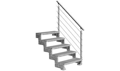 DOLLE Außentreppe »Gardentop«, für Geschosshöhen bis 110 cm, Gitterroststufen 80 cm kaufen