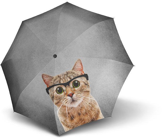 doppler®, Taschenregenschirm ´´Crazy Cat´´ | Accessoires > Regenschirme > Sonstige Regenschirme | Grau | DOPPLER