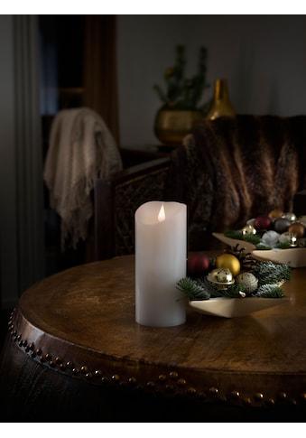 KONSTSMIDE LED-Kerze, LED Echtwachskerze, weiß, mit 3D Flamme, Ø 7,5 cm, Höhe: 17,5 cm kaufen