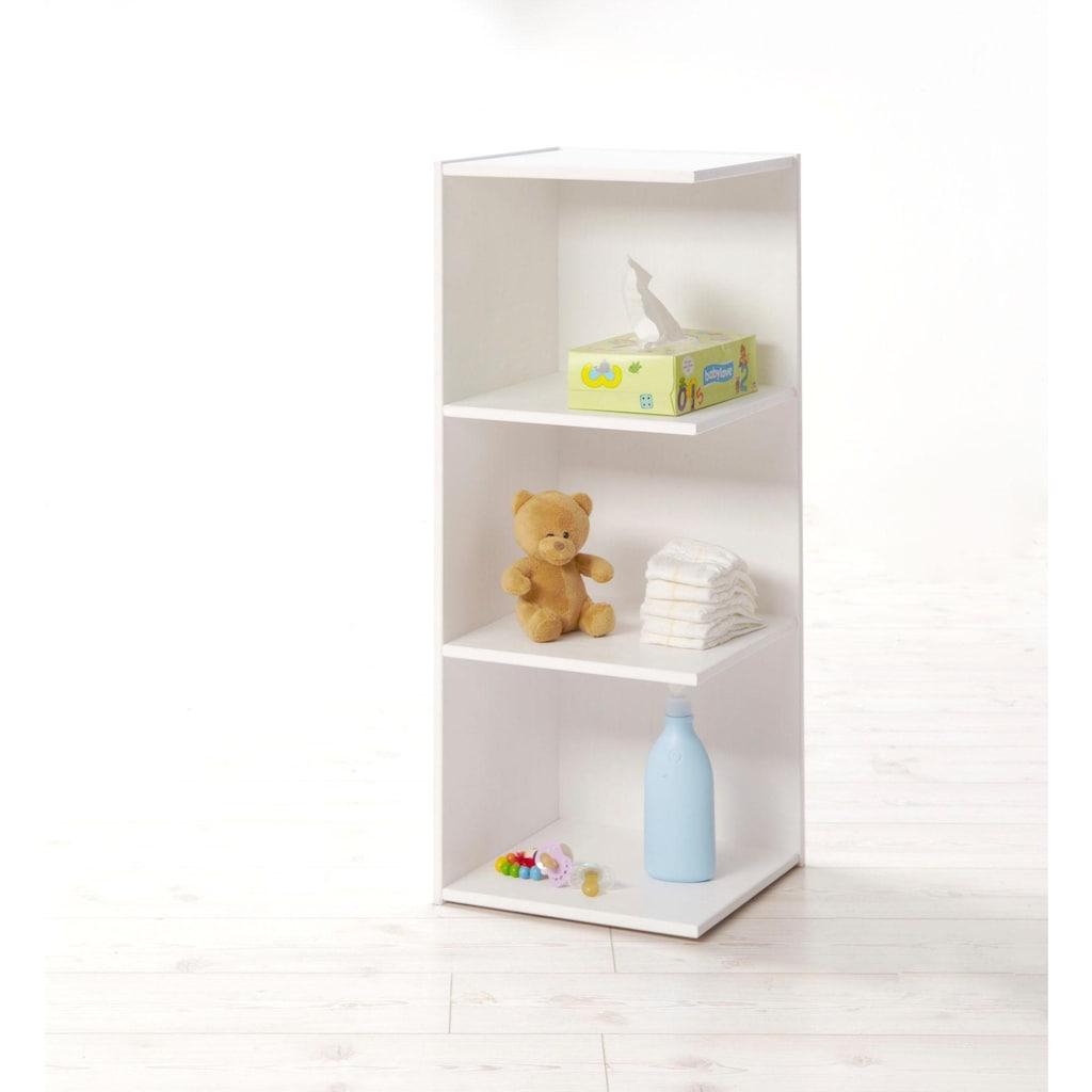 Ticaa Babyzimmer-Komplettset »Moritz«, (Set, 5 tlg.), Bett + Wickelkommode + Schrank + Unterstellregal + Standregal